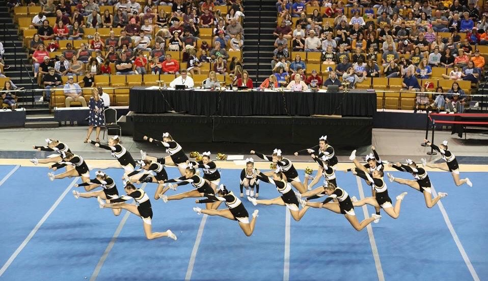 Inola Cheers' months of work shows when they  perform for the crowd at State Competition and place in top five.