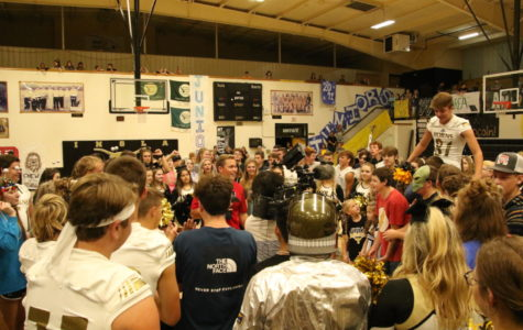 Sports Anchor, TJ Eckert raps up Pep Rally Friday with the Inola Longhorns.
